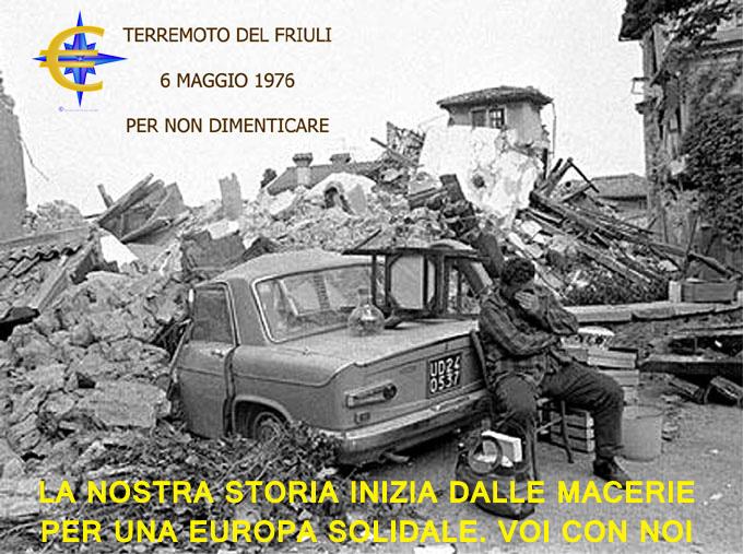 Terremoto del Friuli inizio della nostra storia